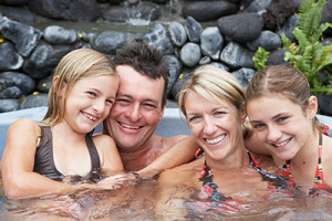 Cover Shot of Family in a spa